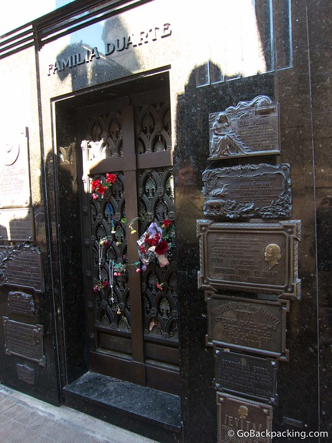 The resting place of Eva Peron
