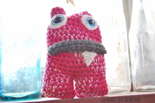 Crocheted Monster Amigurumi OOAK Stuffed Plush Toy