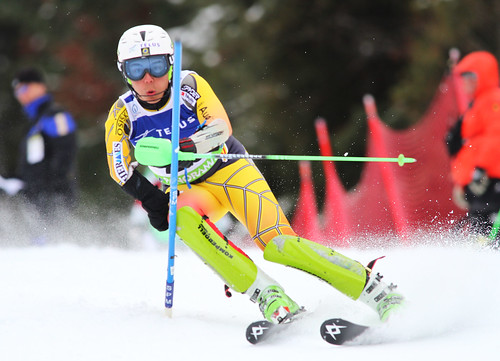 Kirk Schornstein in action in an IPC World Cup slalom in Panorama, B.C.