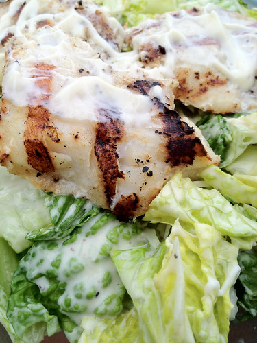 Red Snapper Caesar Salad