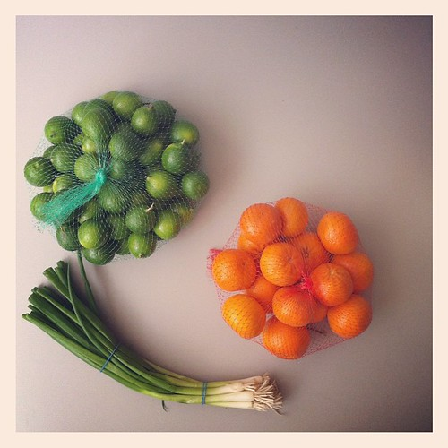 Asian grocer love. (Limes: $0.99 Tangerines: $0.97 Green Onion: $0.20)