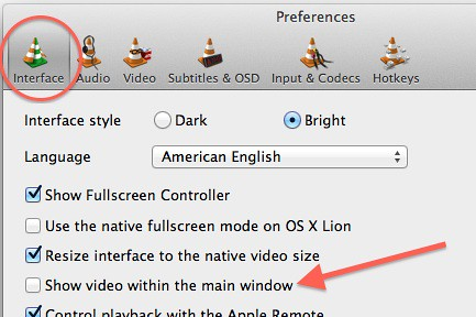 Customizing vlc for mac 1st update felix paul khne go to preferences which you can find in the vlc menu select the interface category and disable show video within the main window ccuart Images