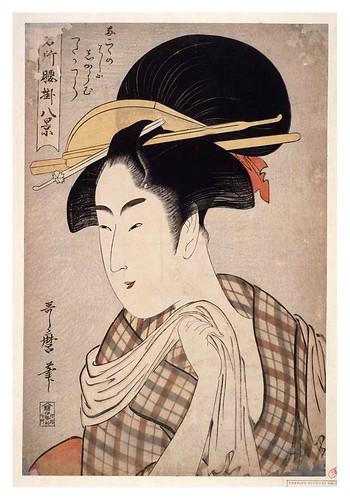 011-Toalla en mano 1795-1796-Kitagawa Utamaro-NYPL