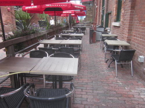 historic Distillery District, Mill St patio
