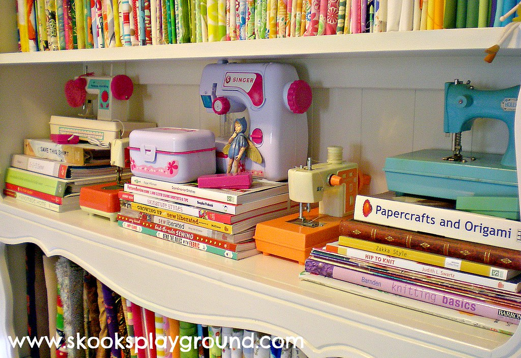 Toy Sewing Machine Shelf