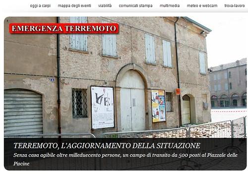 Italia emergenza emilia terremoto sisma emilia comune di carpi mo anche carpi vive l - Casa senza fondamenta terremoto ...