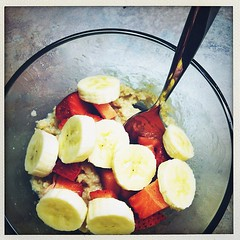 Strawberry banana oatmeal. #breakfast #fruit #fat2fitin2012 #fat2fitwithjoni