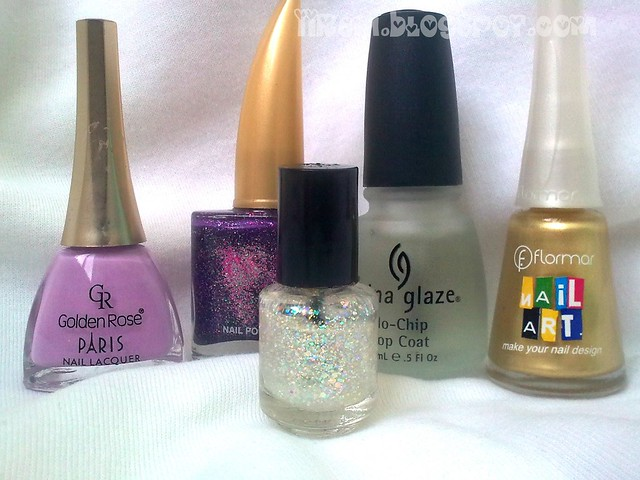 Golden Rose 221 , Claudio 737 , China G. Top Coat , Florar NA009,Franken