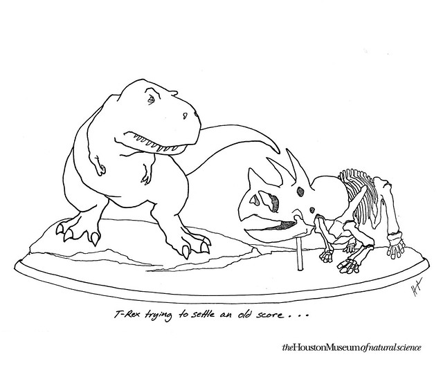 T-Rex trying to settle an old score...