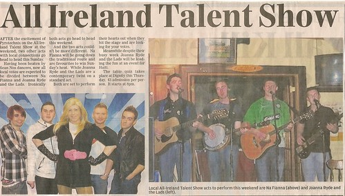 All Ireland Talent Show Na Fianna