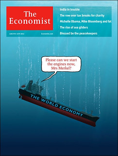 The Economist: Please can we start the engines now, Mrs Merkel? cover by Jon Berkeley #donttellmerkel