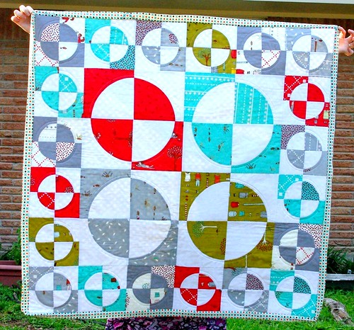 little apples drunkard's path quilt