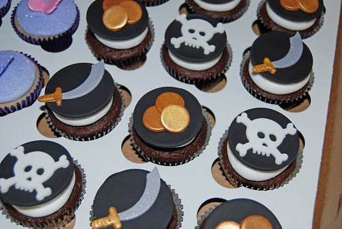 Pirate Cupcakes for a Pirates and Fairies Party