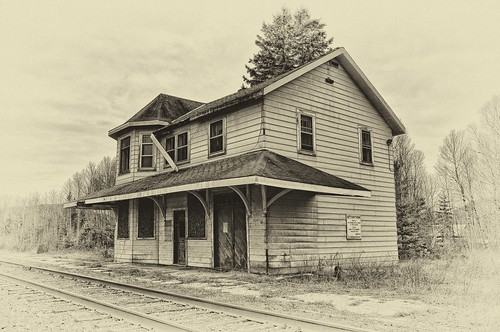 abandoned train station, searchmont, ontario