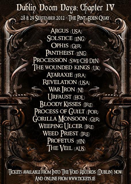 dublin doom days chapter IV the pint dublin gig listings metal gigs