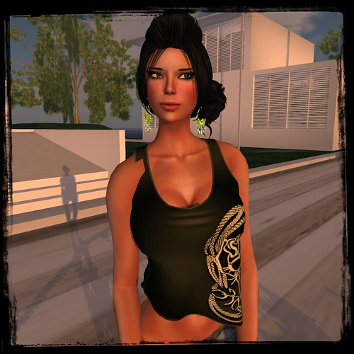! Glitteratir ! - Addison - Tank Top - Mesh - Black by Cherokeeh Asteria