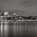 Quebec City at Night [Black & White]