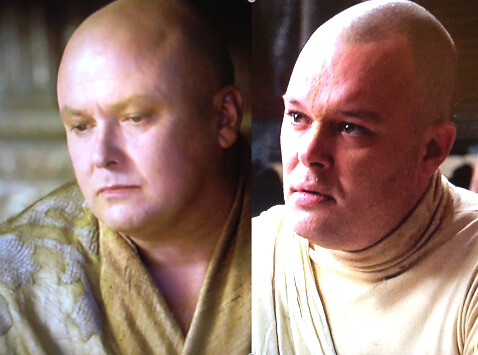 Paul from Mad Men and the Spider from Game of Thrones. They could be twins!