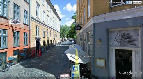 Copenhagen walking route 3 (via Google Earth)