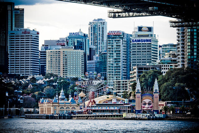 Luna Park on Milsons Point in Sydney, Australia