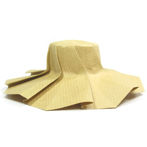 how to make an origami sun hat this origami sun hat