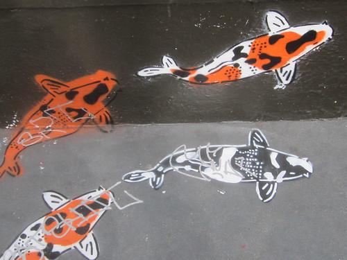 Koi Street Art