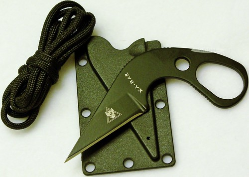 "KA-BAR Last Ditch LDK TDI Law Enforcement Ankle / Neck Knife 1.7"" Blade"