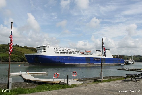 "The ""Norman Trader"" moored opposite Tolverne, River Fal by Stocker Images"