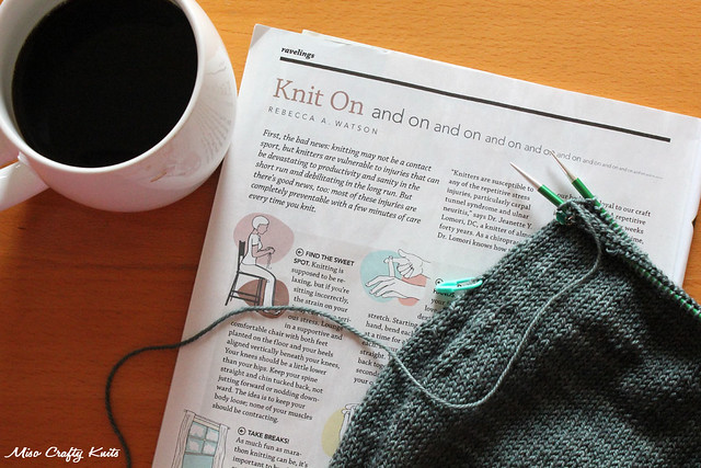 Knitting in the morning