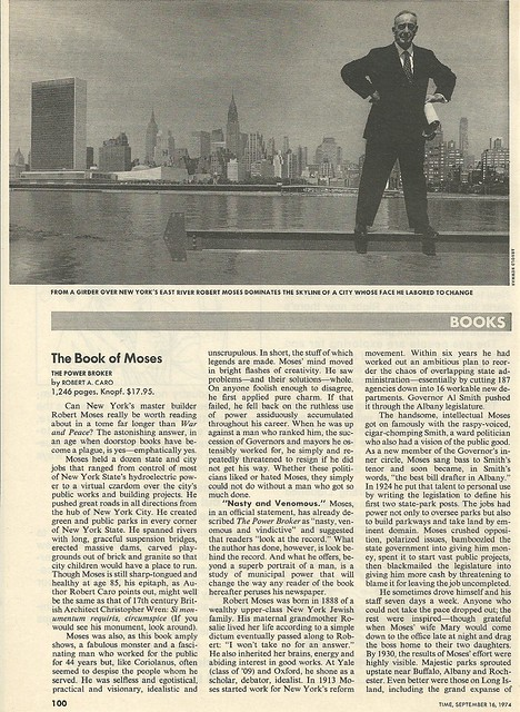 09/16/74 Time Magazine (Robert Moses The Power Broker Book Review)01