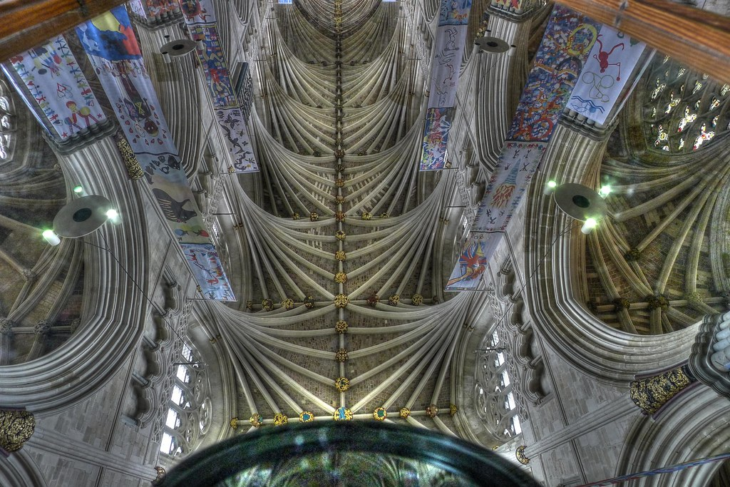 Exeter Cathedral Ceiling Reflection