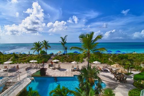 ocean blue vacation balcony hdr tukscaicos provodentiales