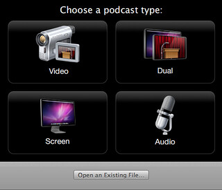Podcast Capture screen