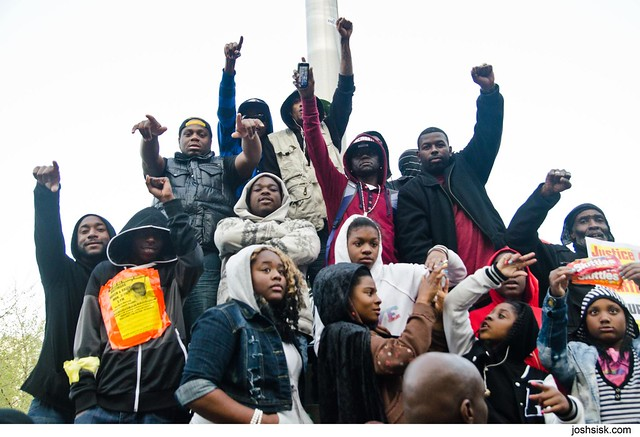 Baltimore Trayvon Martin rally.