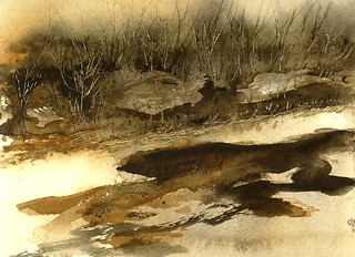 River Thicket Watercolor