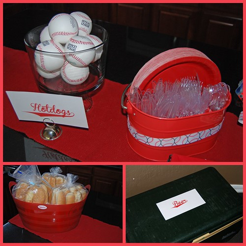 Baseball party Hot Dog Bar
