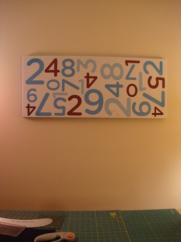 new wall hanging in my sewing room