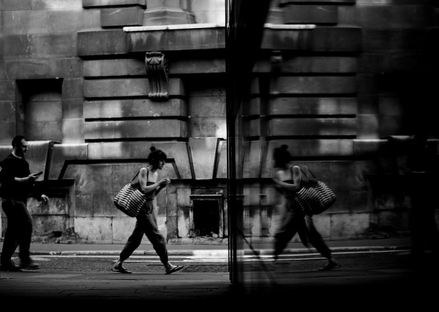 Black and white street photography from 'sholgk'