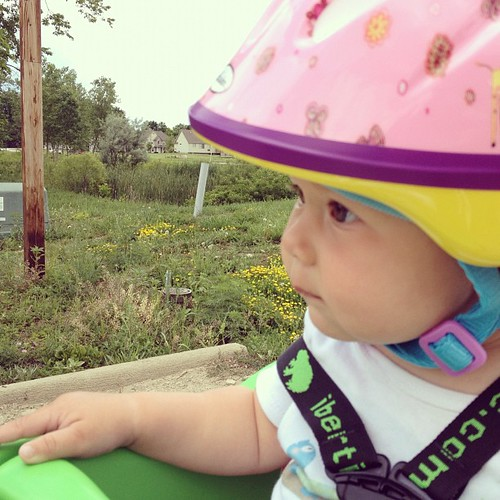 Baby's first bike ride!