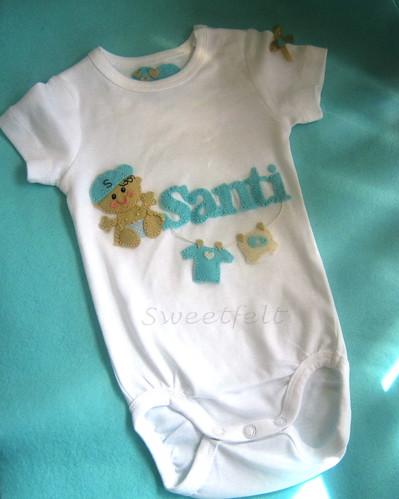♥♥♥ Body  para o Santiago que mora lá longeee em Chandler, Arizona... by sweetfelt \ ideias em feltro