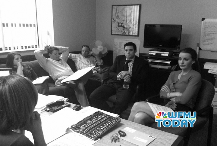 WFMJ Today | The gang in a meeting with News Director Mona A
