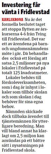 2012-05-31 Sydöstran, Artikel