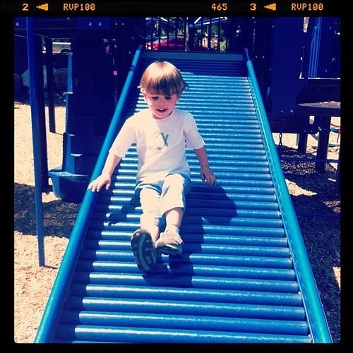 Enjoying the rolling slide