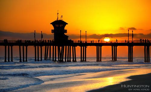 ocean california ca street bridge sunset sky sun beach silhouette st night clouds 1 evening coast pier highway bravo shot pacific huntington main touch pch kris boardwalk hdr kk kkg hiway photomatix kros kriskros 5xp kkgallery dsc84512345tonemapped
