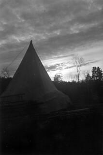 Teltet til den finske grensevakten
