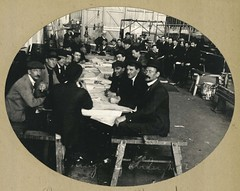 Railway staff enjoying reading and recreation time during the 1917 strike