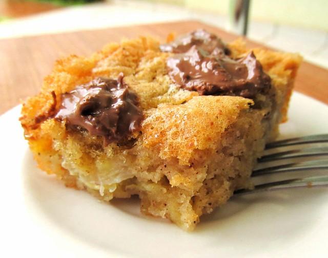 Torta de banana muito facil com chocolate
