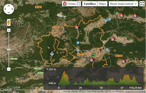 Wikiloc - ibilbideak Eusko Bike Challenge - Santa Cruz de Campezo, País Vasco (España)- GPS track