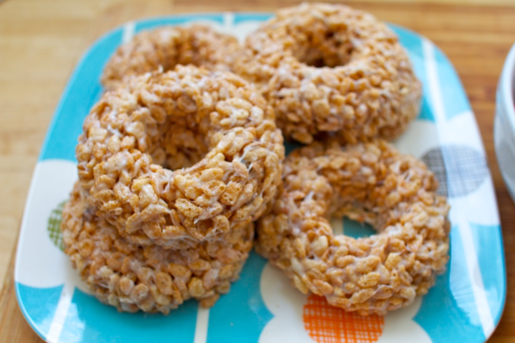 rice crispie donuts