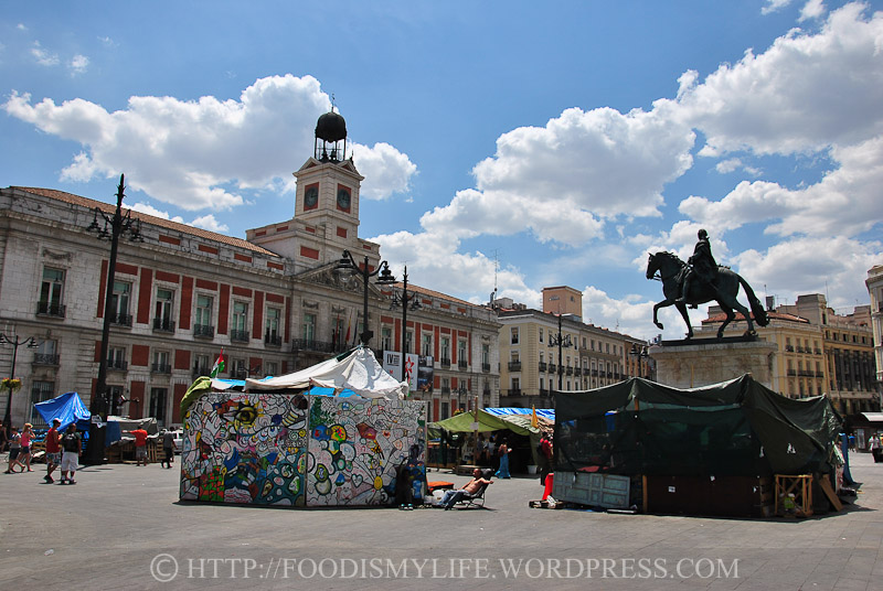Puerta del Sol - Occupied by protests and demonstrators